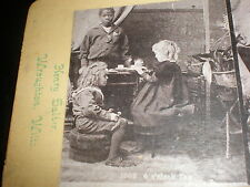 stereoview photograph 4 o'clock tea black boy By Henry Salter at Wroughton 1880s