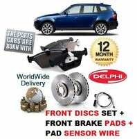 FOR BMW X3 E83 1.8 XDRIVE 2009-11 FRONT BRAKE DISCS SET + DISC PADS + SENSOR KIT