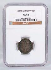 1888-E  Germany  10 Pfennig  NGC MS-64