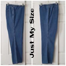 JMS 3X Bootleg Light Wash Blue Denim Pull-On Jeans 22W/24W Average
