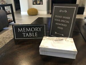 M&H Invites Retirement Memories And Wishes Cards (110 Count) NEW With Signs