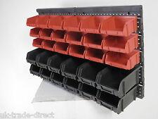 30pc Plastique Mur Garage Atelier monté silos rack board Bin NOUVEAU