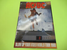 ACDC BLOW UP YOUR VIDEO WORLD 1988 TOUR PROGRAM BOOK AC/DC