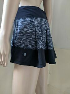 Lululemon ,Skirt/ Skort Size 6 SMALL  Color Black, Light Gray