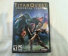 Titan Quest: Immortal Throne (PC, 2007) Game Complete with Manual & Code