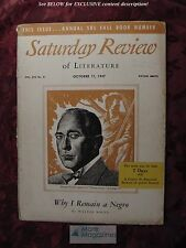Saturday Review October 11 1947 EDWARD STANLEY WALTER WHITE