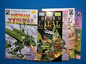 VIETNAM JOURNAL #s 1,2,3,4,5,6 & 7 - APPLE COMICS - DON LOMAX - RUN OF 7