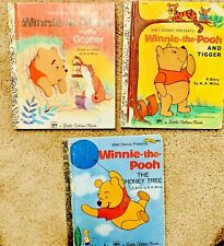 Lot of (3)Little Golden Books Winnie The Pooh Honey Tree, Tigger, Gopher 1970s