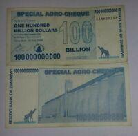 ZIMBABWE 100 BILLION DOLLARS - CIRCULATED NOTE