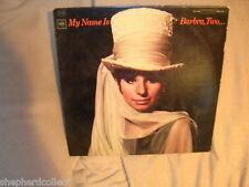 Barbra Streisand My Name is Barbra, Two.... CS 9209