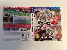 Sony psvita Virtua Tennis 4 World tour edition couvrent seulement Manche Incrustation PROMO