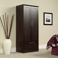 Wardrobe Storage Closet Organizer Cabinet Wood Clothes Hanging Drawer Armoire