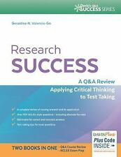 Research Success: A Q&A Review Applying Critical Thinking to Test Taking (Q&a S