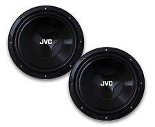 """2 x NEW JVC CS-W120 12"""" CAR AUDIO SHALLOW-MOUNT SINGLE 4-OHM SUB WOOFER 150W RMS"""