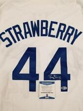 DARRYL STRAWBERRY Signed Custom Dodgers Jersey Auto ~ Beckett BAS COA