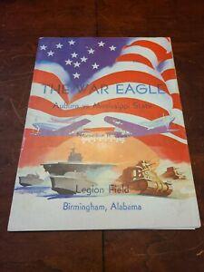 1944 Auburn Vs Mississippi State Football Program