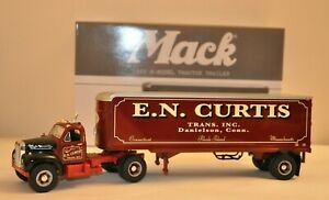 First Gear Collectible 1960 Mack B-Model Tractor Trailer (E.N. Curtis) 1:34 Scal