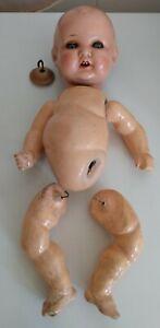 """Armand Marseille AM 518 3k  Doll.  14.5"""". Spare parts , dolls head, limbs"""