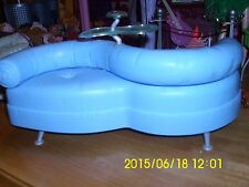 DOLL FURNITURE MASQUERADE MADNESS LOUNGE SOFA  BLUE LEATHER LOOK