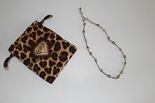 "Brighton Silver Bronze Rinestone Necklace $88 With Bag  NEW 16-18"""