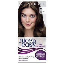 Clairol Nice N Easy Non-permanente tintura per capelli senza ammoniaca Medium Ash Brown 77