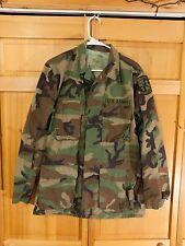 US Army M81 Woodland Camo BDU Uniform Field Jacket, Size Small Long
