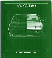 Porsche 924 & 924 Turbo 1980-81 UK Market Sales Brochure