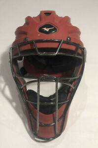 "Mizuno Samurai - Catcher's Gear Helmet MSCH200, Adult 7"" - 7 5/8"" Red USED"