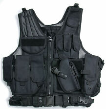 Military Tactical Hunting Combat Vest Holster Heavy Duty Regular Black