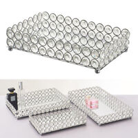 Crystal Mirrored Tray Cosmetic Vanity Jewelry Organizers for Wedding Home Decor
