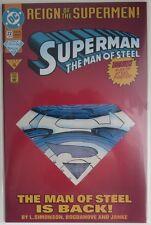 1993 SUPERMAN THE MAN OF STEEL #22  DIE-CUT COVER  -  NM             (INV9129)