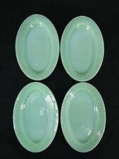 """Vintage Fire-King Jadeite Oval Plates / Platters Set of 4 - 9.5"""" x 6.5"""""""