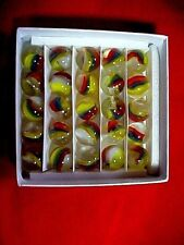 "SET OF 25 ""MARBLE KING"" ST MARYS CATS EYES MARBLES MIMIC SET $10.99 POSTPAID !!"
