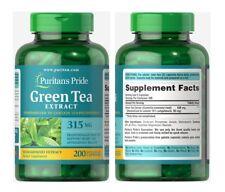 Puritan's Pride GREEN TEA STANDARDIZED EXTRACT 315 mg X200 Capsules
