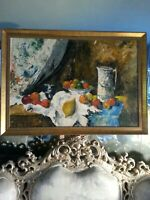 very pretty !!!  still life probably homage to Paul Cezanne