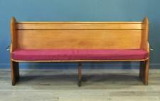 Attractive Antique Victorian Solid Pine Church Pew Hall Bench, 2 Metres Wide