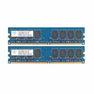 4GB ( 2x 2GB ) PC2-6400U DDR2-800MHz 240pin CL6 DIMM Desktop PC Memory For NANYA
