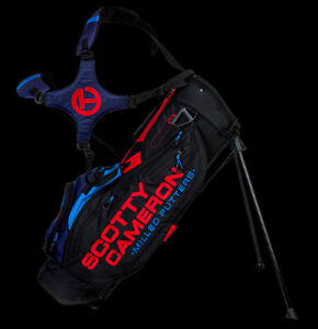 New Scotty Cameron Pathfinder Stand Bag- Black-Red-Blue- New In Box
