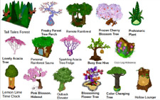 Webkinz online game virtual items PSI TREE SET multi colors 16 trees for $40