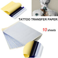 10x Tattoo Thermal Carbon Stencil Transfer Paper Tracing Kit A4