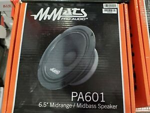 mmats pa601 6.5 midrange speaker pro audio very loud bagger harley davidson new