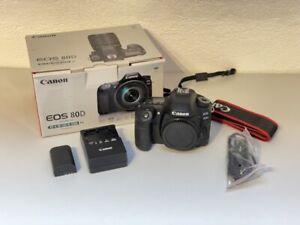 CANON EOS 80D Body Gehäuse - 13500 Auslösungen