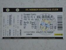 Celtic v Real Sociedad 2015/16 Friendly Ticket