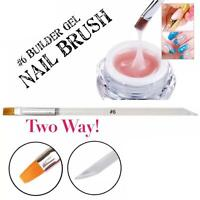 #6 Builder UV LED Gel Brush Nail Art Extension Painting UK Two way Pusher 2in1