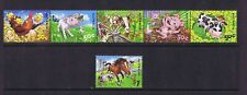 Australian Decimal Stamps 2005 Down on the Farm Joined Strip 5 & $1 Horse MNH