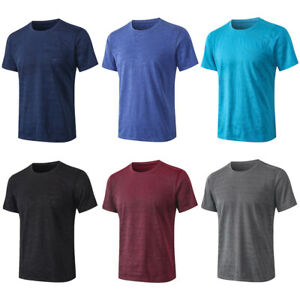 Men Sports Tops Loose Casual Fitness Running Short Sleeve T-Shirts Quick Dry