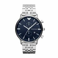 New Emporio Armani AR1648 Stainless Steel Chronograph Men's Quartz Watch