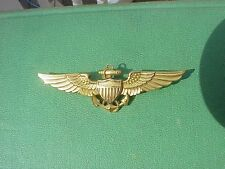 ORIGINAL SCARCE WWII NAVAL AVIATOR WINGS - SOLID 10K GOLD - FULL SIZE - BALFOUR