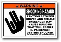 Funny Warning Label Shocking Hazard Bumper Window Vinyl Sticker JDM LOL Shocker
