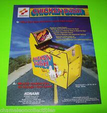 CHICKEN DASH By KONAMI 1995 ORIGINAL NOS REDEMPTION ARCADE GAME SALES FLYER